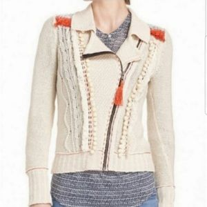 Anthropologie Angel of the North Pompom Sweater